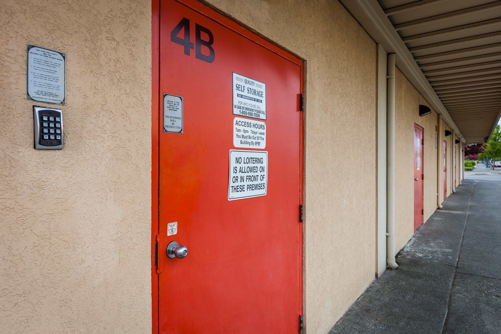Keypad access to self storage in Olympia Washington