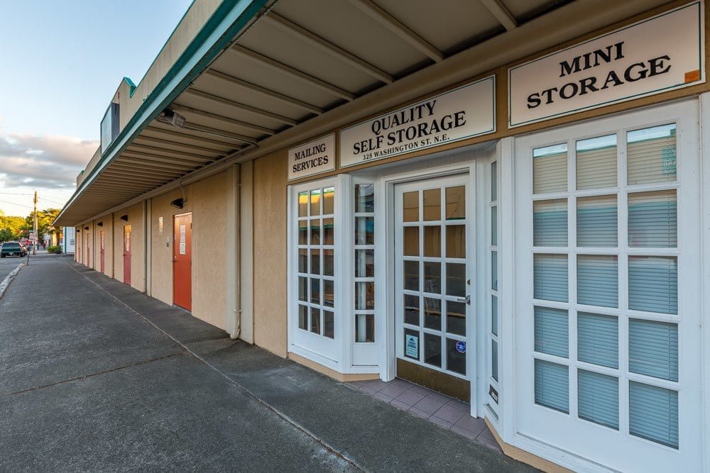 Entrance to self storage in Olympia Washington