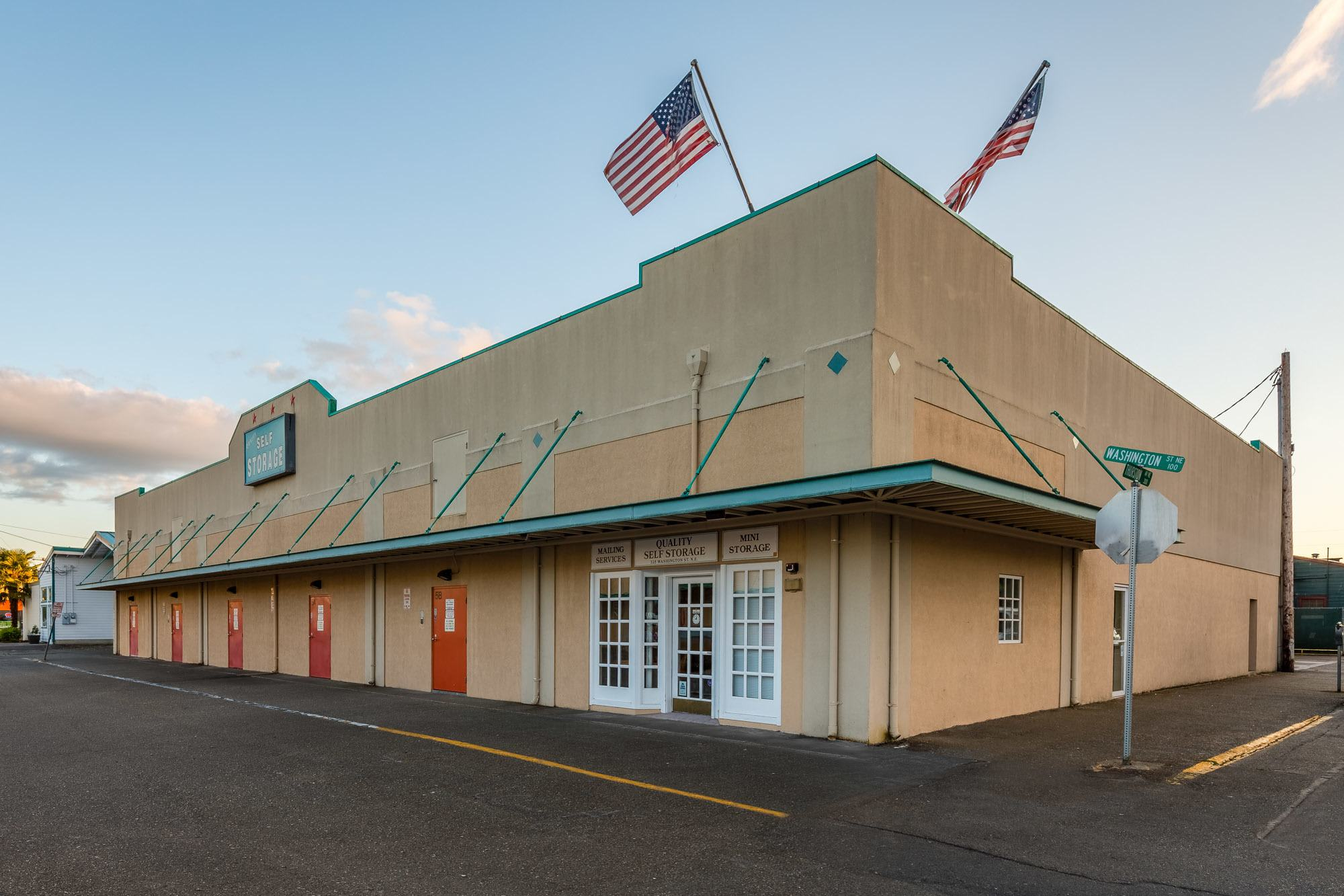 Exterior of self storage facility in Olympia, Washington