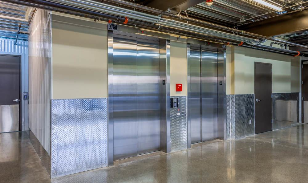 Self storage facility in Renton has elevators to help you store your items
