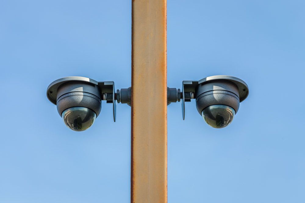 Exterior security cameras at self storage in Tacoma, WA