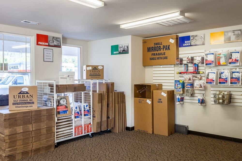 All the packing supplies you could need at self storage in North Bend, WA