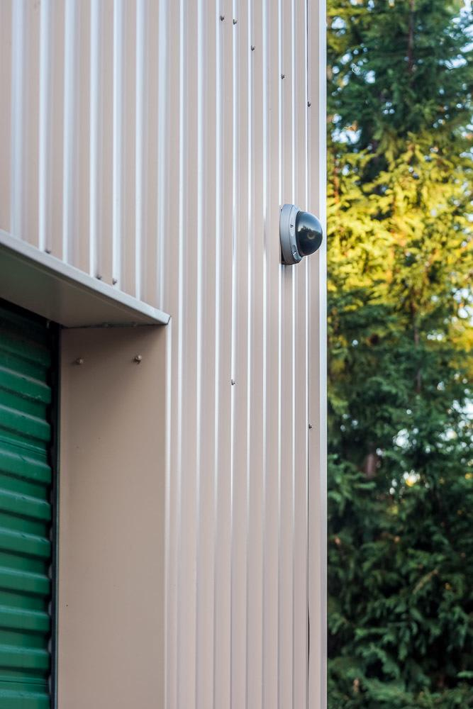 Security cameras outside of self storage in North Bend, WA