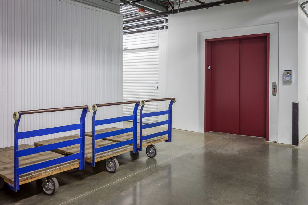 Push carts available at self storage in North Bend, WA