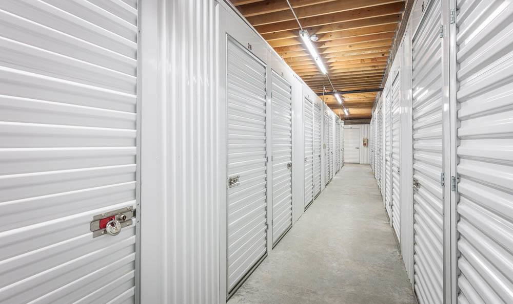 Spacious inside units at the self storage facility in Renton