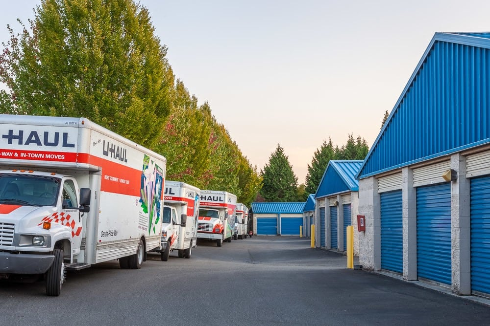 Rental trucks available at self storage in Snohomish, WA