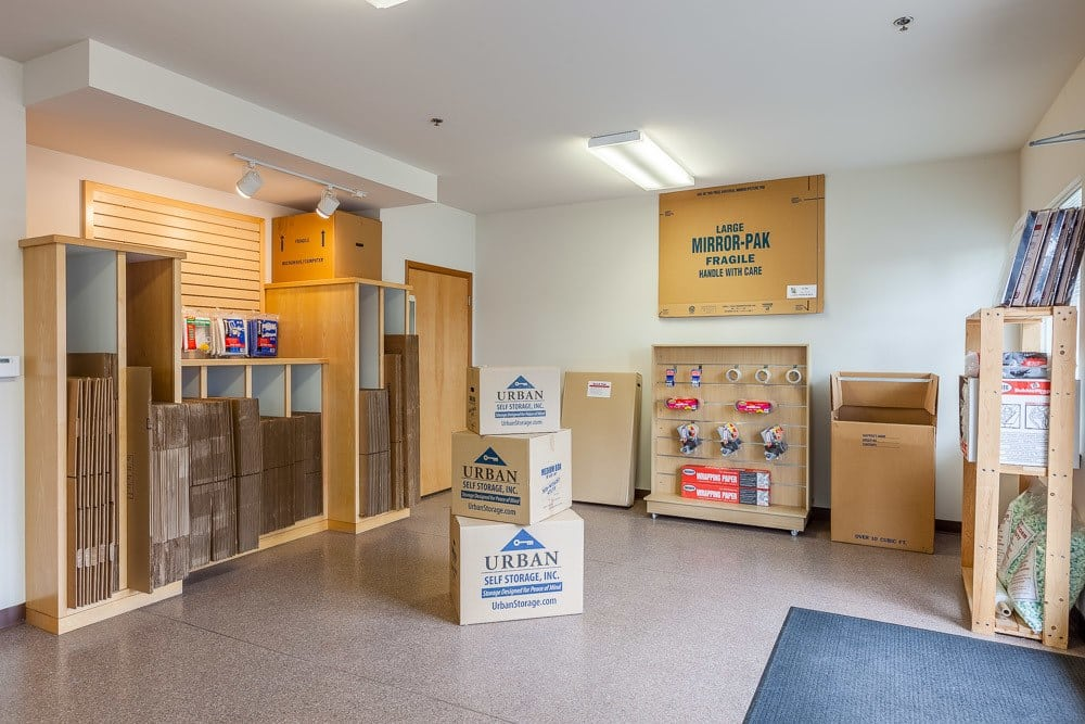 Various packing and moving supplies available at self storage in DuPont, WA.