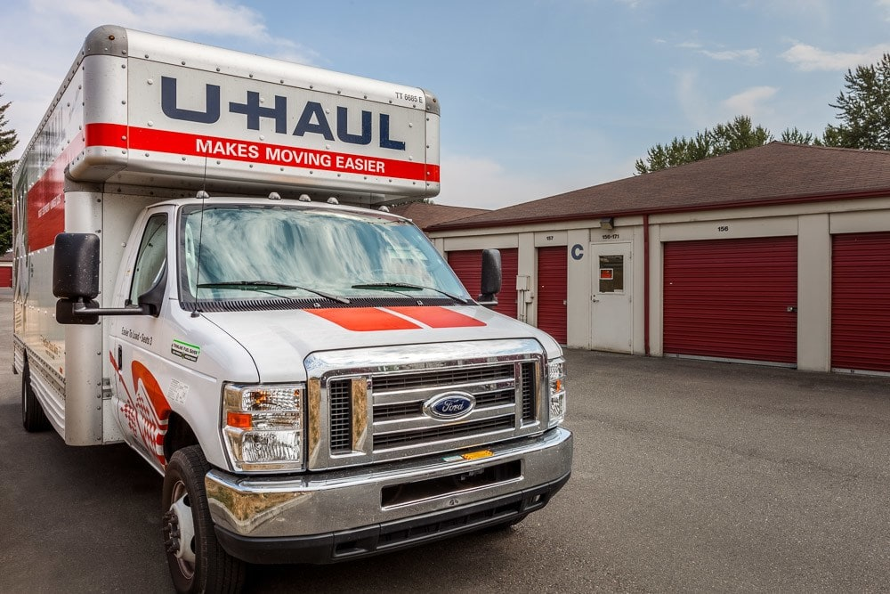Rental trucks available for your self storage needs in Puyallup, WA