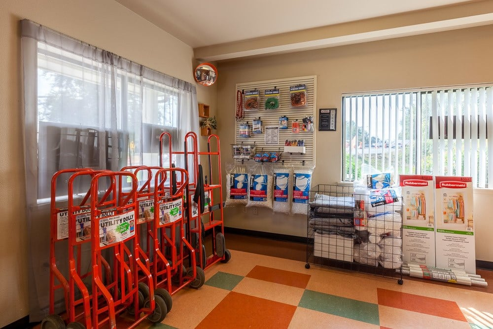 Various self storage supplies available in Puyallup, WA