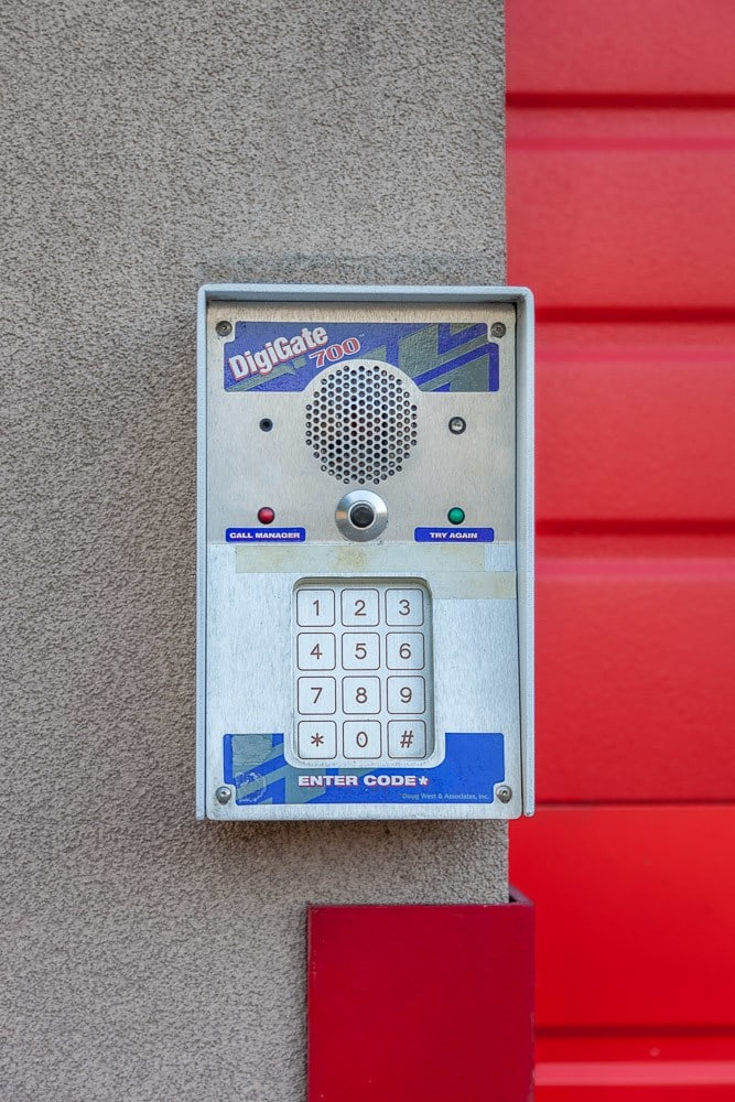 Exterior self storage keypad in Seattle, WA