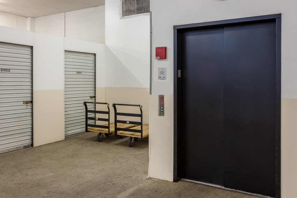 Interior elevator and self storage units in Seattle, WA