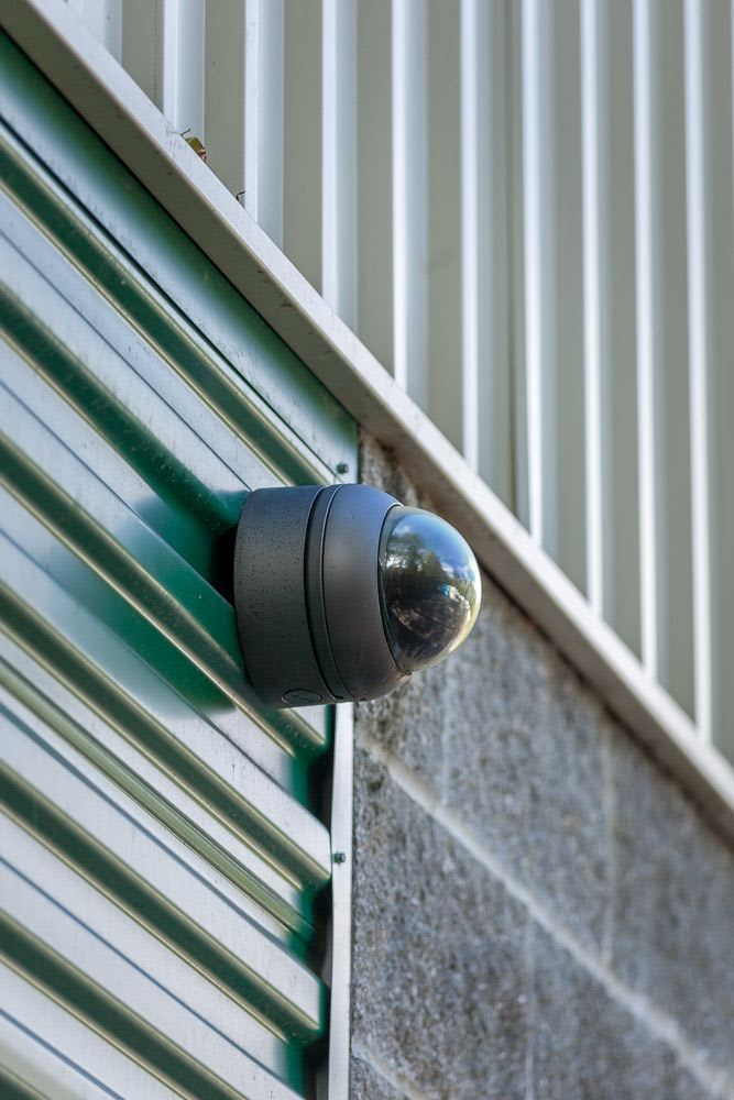 Security cameras through our facility keeps your self storage safe in Bainbridge Island, WA