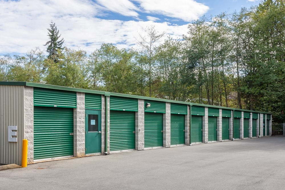Exterior self storage units in Bainbridge Island, WA
