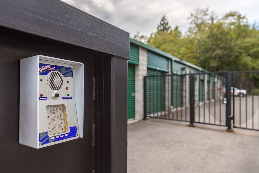 Keypad entry to self storage in Bainbridge Island, WA