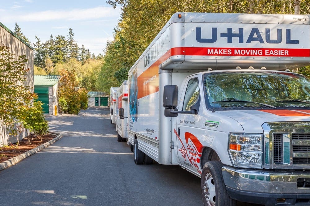 Rental trucks available for your self storage needs in Bainbridge Island, WA