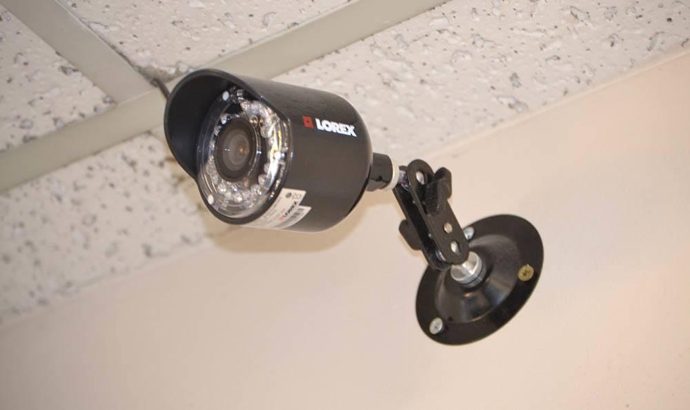 Interior security camera at self storage in Redmond, WA
