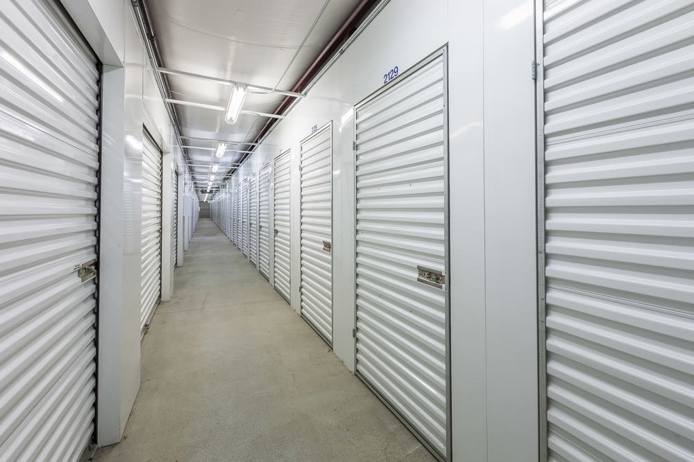 Interior self storage units in Marysville, WA