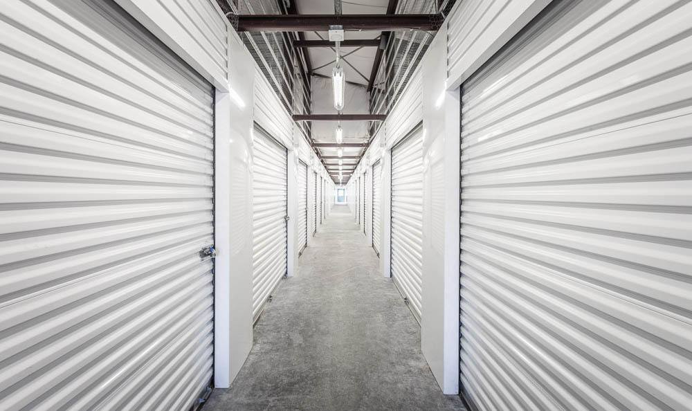 Interior self storage units in Auburn