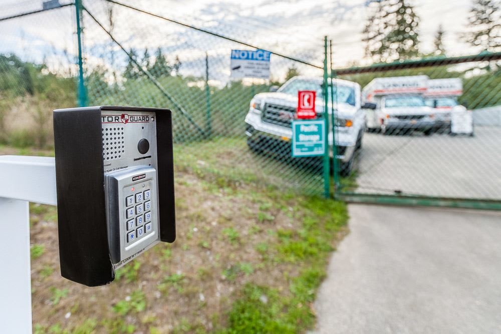 Keypad access to self storage in Poulsbo, WA