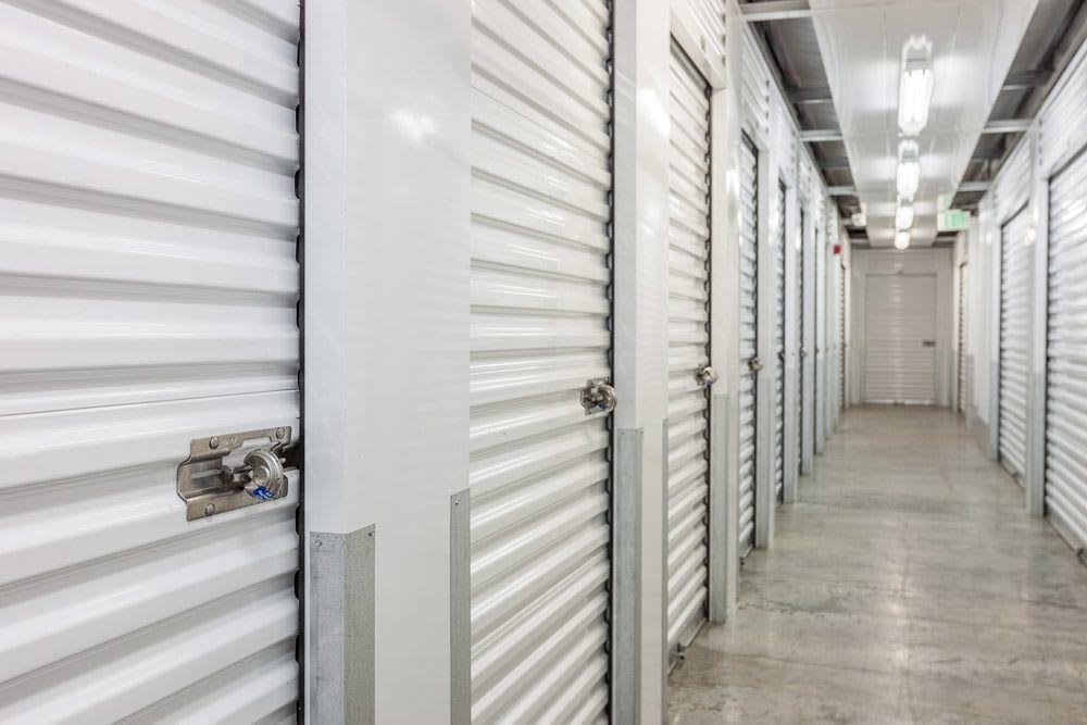 Interior self storage units located in Poulsbo, WA