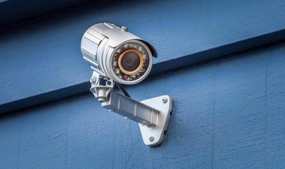 Security cameras at the self storage facility in