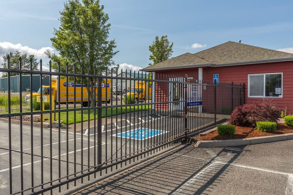Gated entry protects your valuables at self storage in Philomath, OR