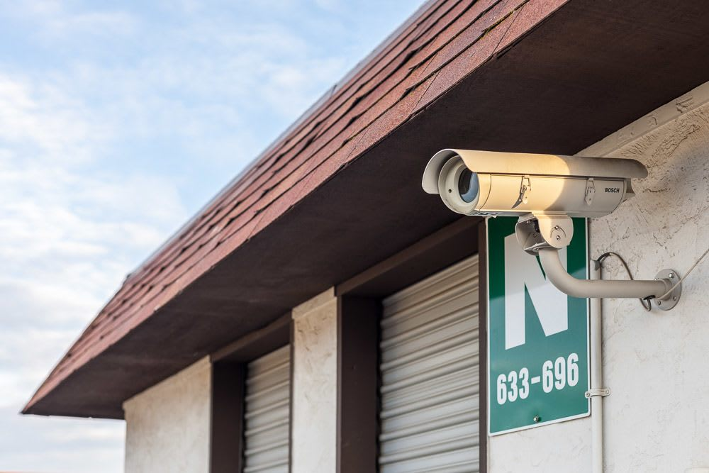 Exterior security camera at self storage in Yakima, WA