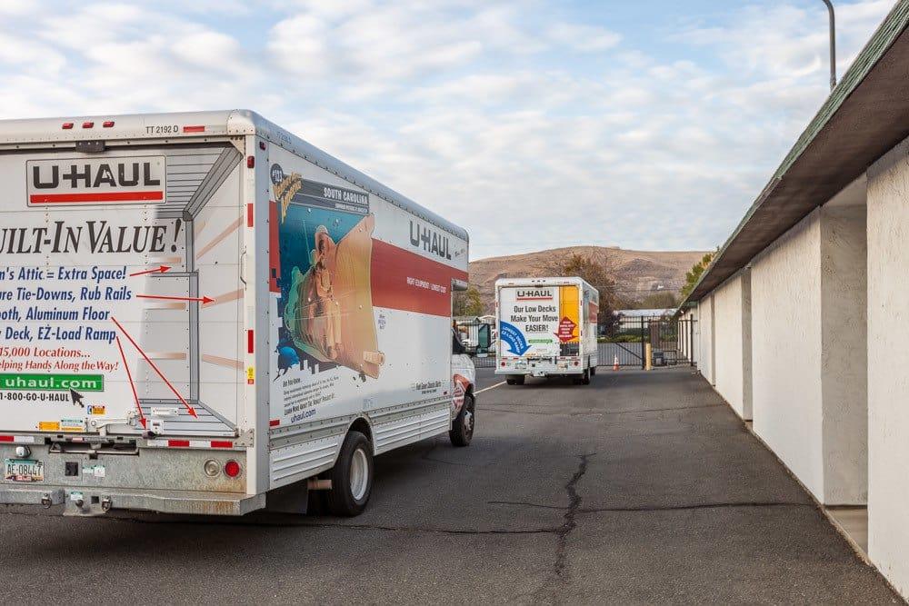 Rental trucks also available at self storage in Yakima, WA