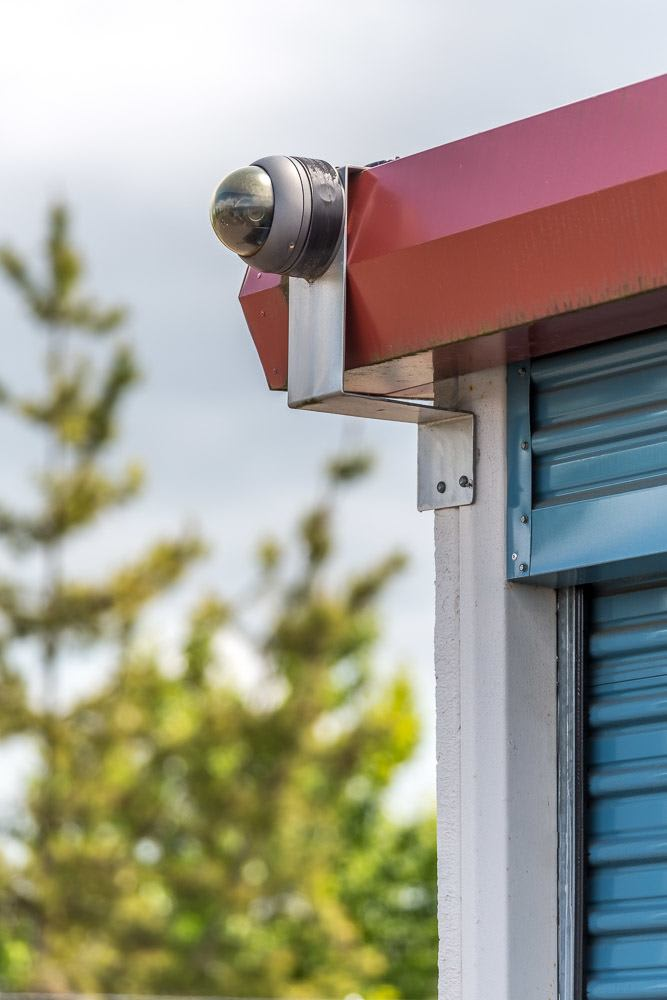 Exterior security camera keeps an eye on your self storage in Corvallis, OR