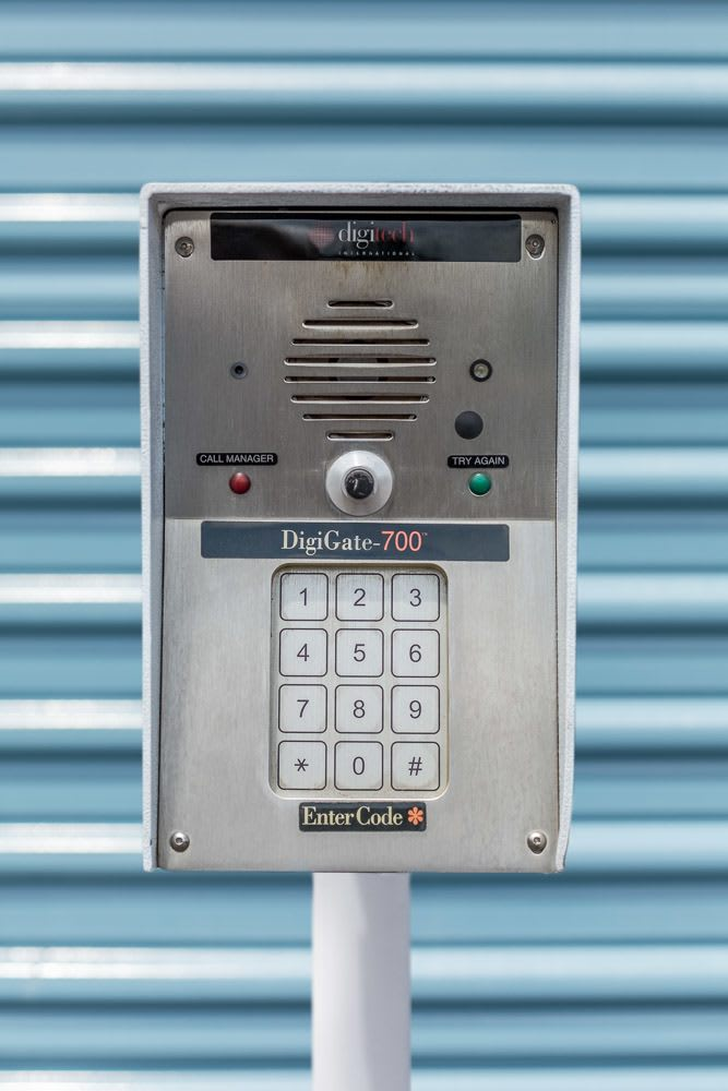 Keypad keeps your storage safe in Corvallis, OR.