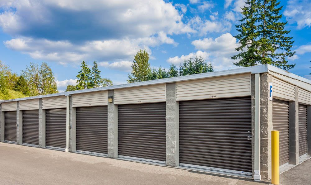 Clean exterior units at the self storage facility in Renton