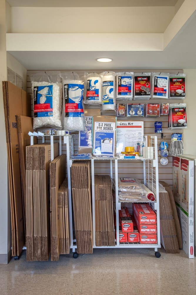 Moving and packing supplies located at our self storage facility in Renton