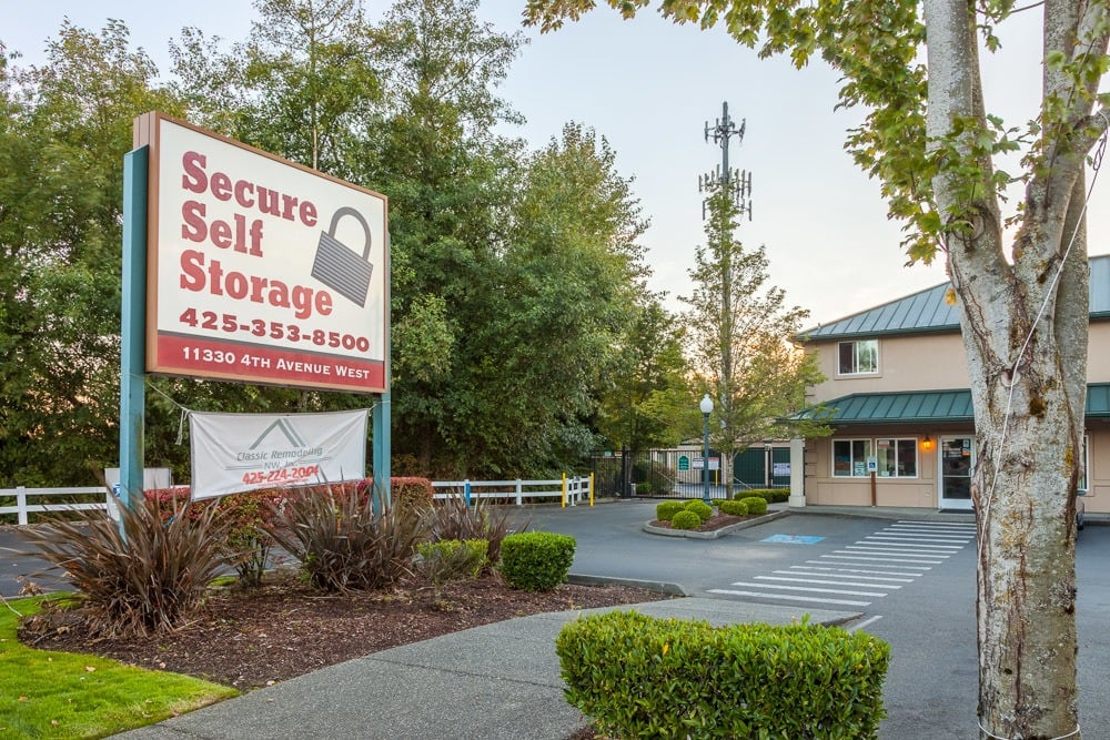 Front office of self storage facility in Everett, WA