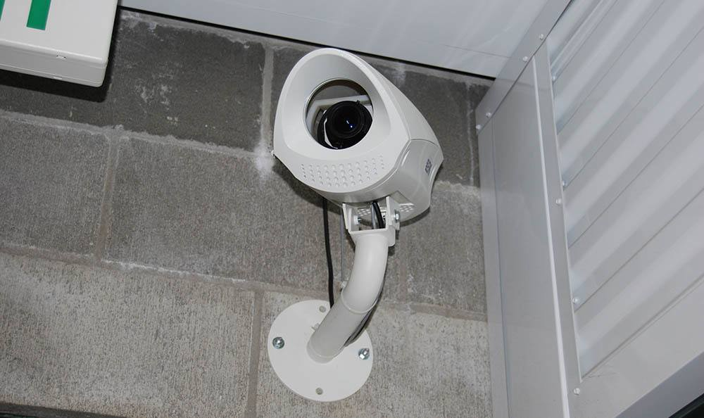 Security cameras through our facility keeps your self storage safe in Everett, WA
