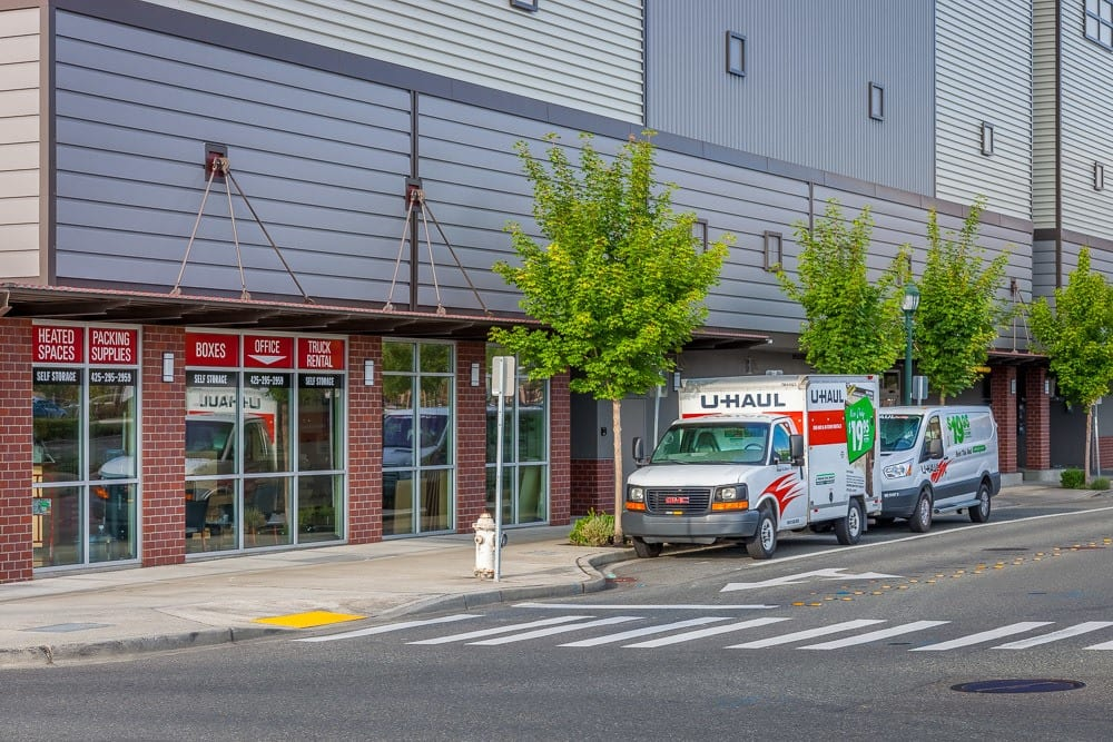 Exterior of self storage office in Issaquah, WA
