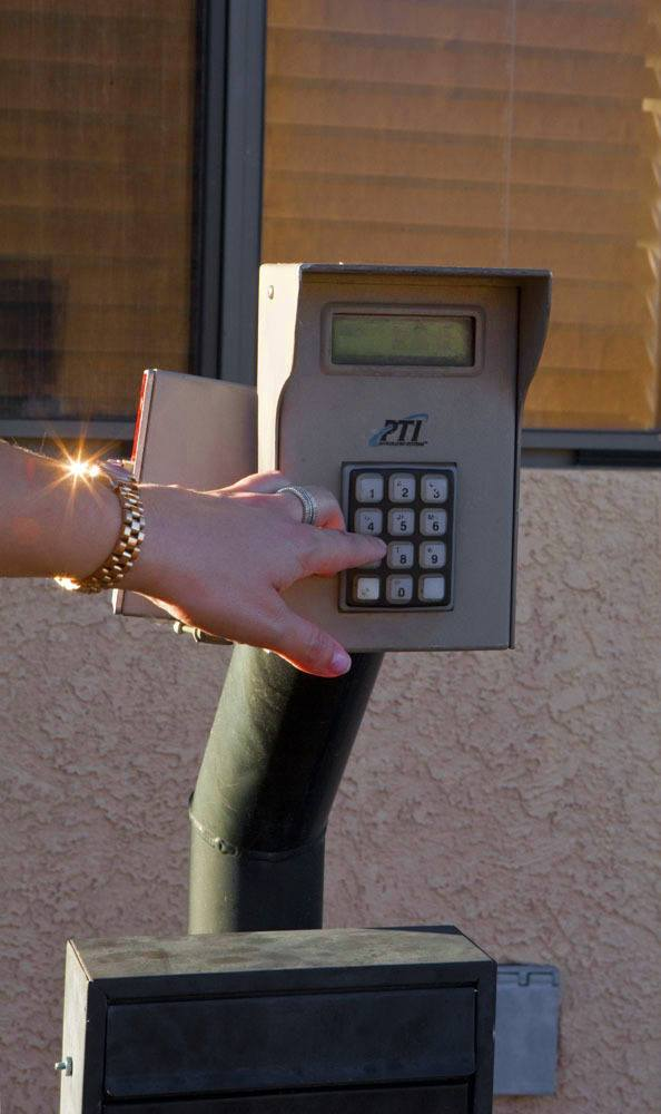 Keypad access system to self storage facility in  Cottonwood, AZ.