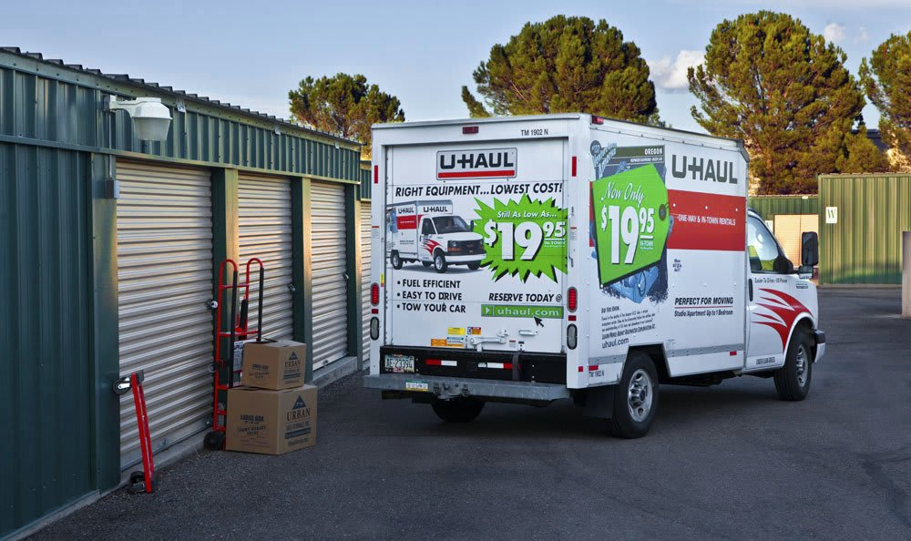 Self storage unit truck rentals for your convenience.