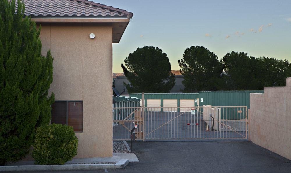 Entrance of self storage facility in Cottonwood, AZ