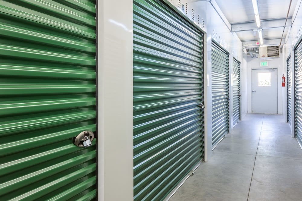 Secured, heavy duty doors protect your self storage in Blaine, WA