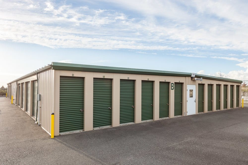 Exterior of self storage facility in Blaine, WA