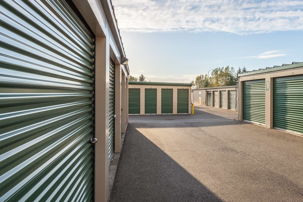 Wide access to exterior self storage units in Blaine, WA