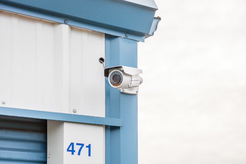 Exterior security camera at self storage in Ferndale, WA