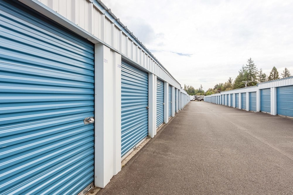 Exterior self storage units in Ferndale, WA