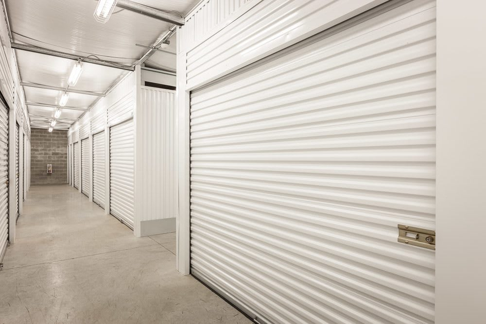 Interior bright and spacious self storage units in Puyallup, WA