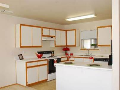 Woodspring Apartments apartment kitchen