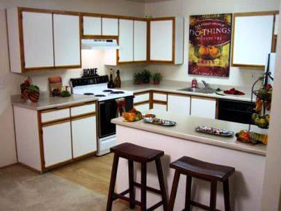Breakfast nooks in Woodspring Apartments active adult apartments