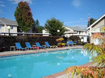 Sparkling pool at Woodspring Apartments