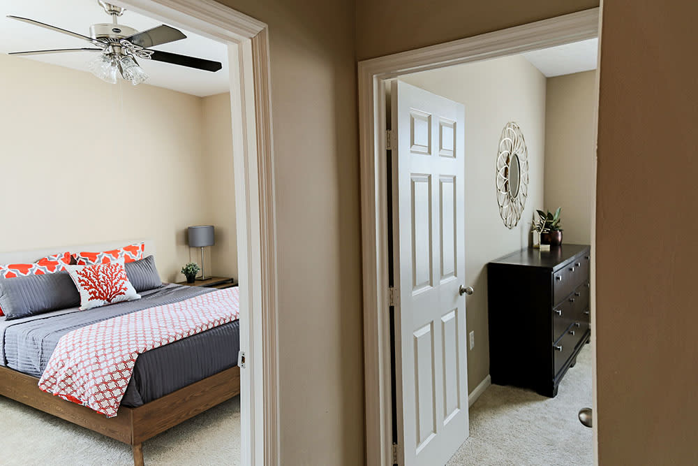 Example bedrooms at apartments in West Chester