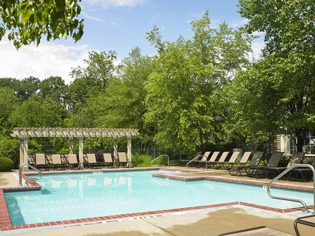 A sparkling pool is just one of the many amenities that Highlands of Montour Run has to offer.