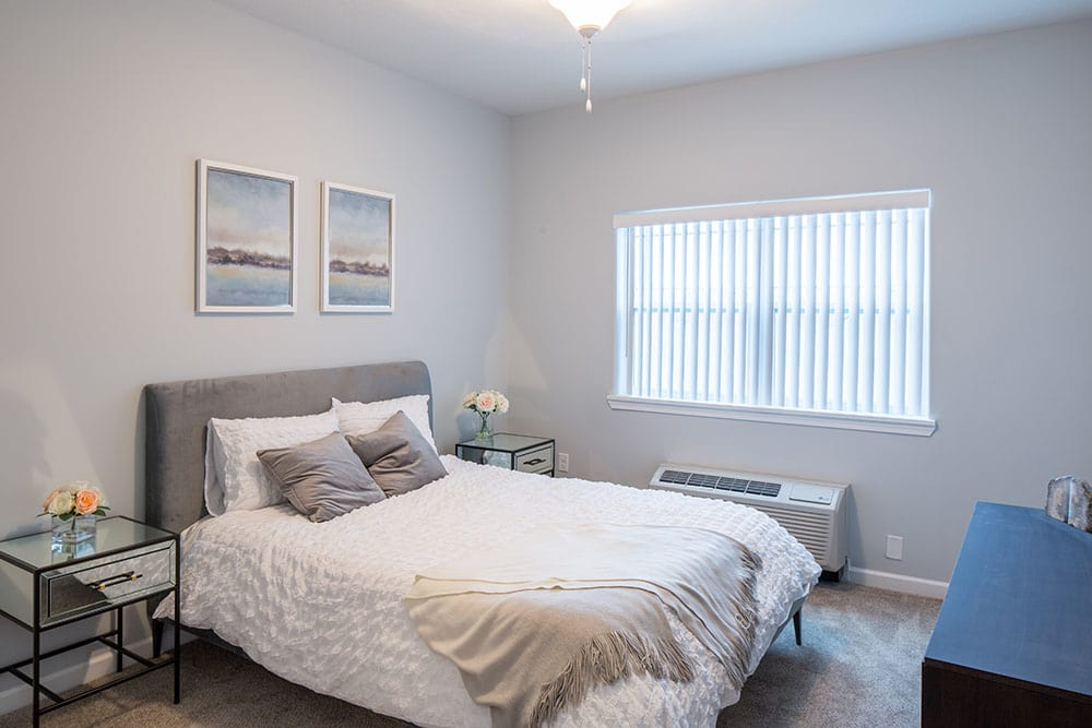 Comfortable bedroom in our Rochester, NY apartments